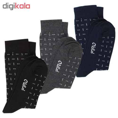 جوراب مردانه فیرو مدل Ft240  بسته ۳ عددی