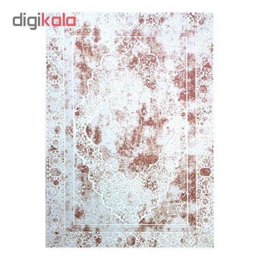 فرش ماشینی مرینوس طرح دیوا کد 065/012 زمینه کرم