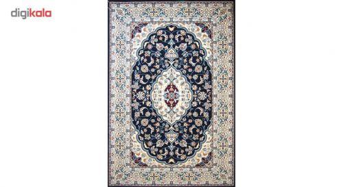 فرش ماشینی ساوین کد ۲۱۰۴ زمینه سرمه ای