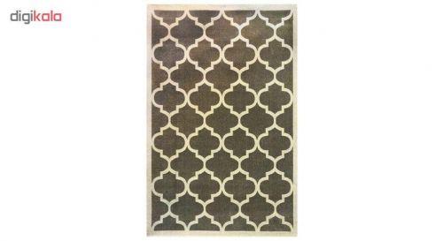 فرش ماشینی ساوین کد ۴۰۴۵ زمینه طوسی