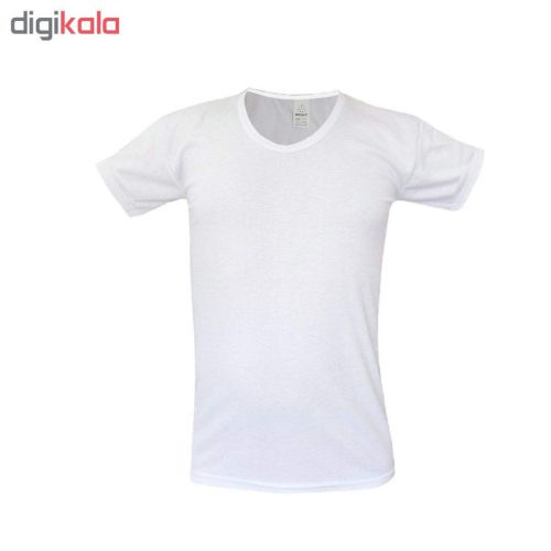زیرپوش مردانه آستین کوتاه حجت مدل Hoj-As کد ۲۰۲۲۷ رنگ سفید