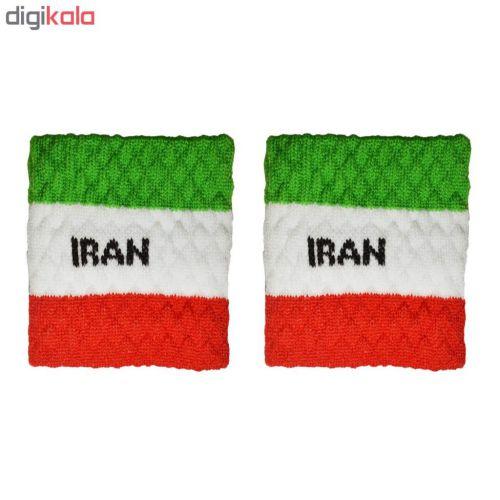 مچ بند ورزشی پرشیکا طرح پرچم کشور ایران بسته ۲ عددی