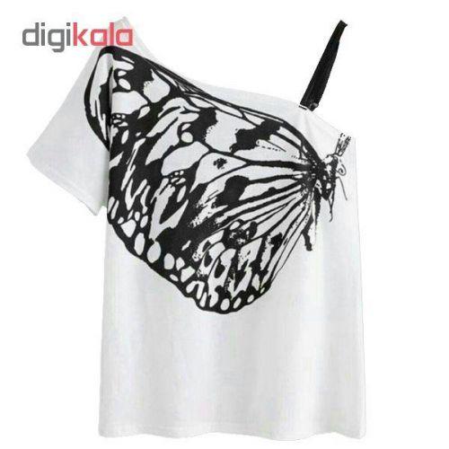 بلوز زنانه طرح پروانه کد 106