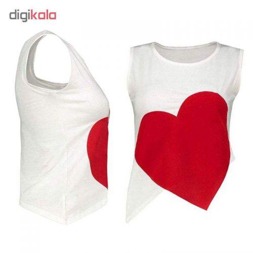 ست تاپ و شلوارک زنانه طرح قلب کد 4735