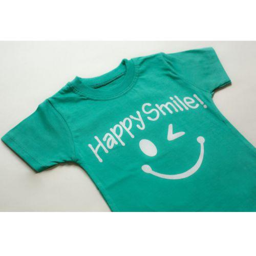 ست تیشرت و شلوارک پسرانه طرح HAPPY SMILE  کد ۲