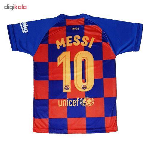 ست پیراهن و شورت ورزشی پسرانه طرح بارسلونا کد ۲۰۱۹