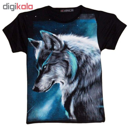 تی شرت پسرانه طرح گرگ کد ۲۱