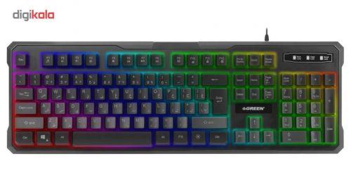 کیبورد مخصوص بازی گرین مدل GK601-RGB