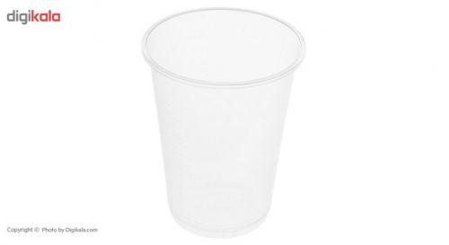 لیوان یکبار مصرف تک ظرف کد 8009 بسته 90 عددی