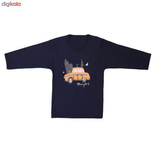ست تیشرت و شلوار پسرانه طرح تاکسی مدل S-22