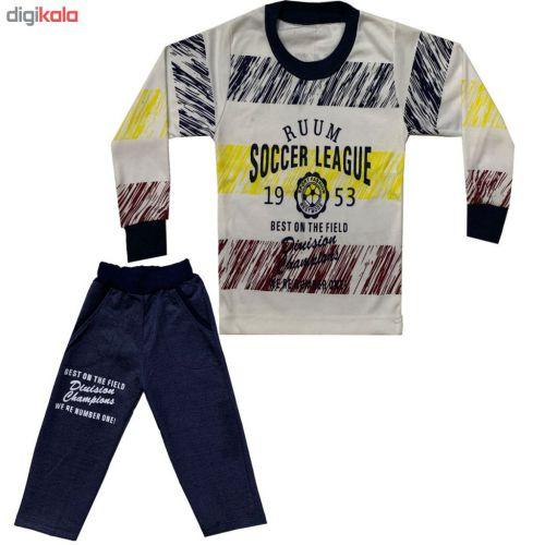 ست تی شرت و شلوار پسرانه کد ۰۲۱