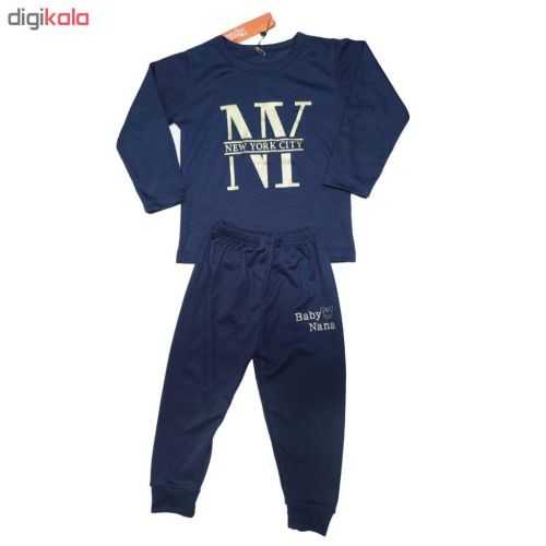 ست تی شرت و شلوار پسرانه کد M712