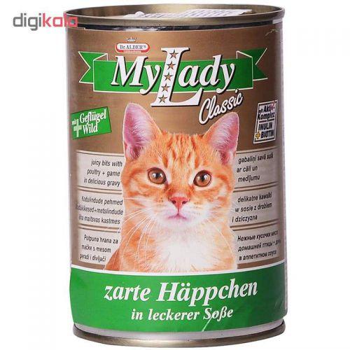 کنسرو غذای گربه دکتر آلدرز مدل My Lady Chicken and Wild وزن 415 گرم