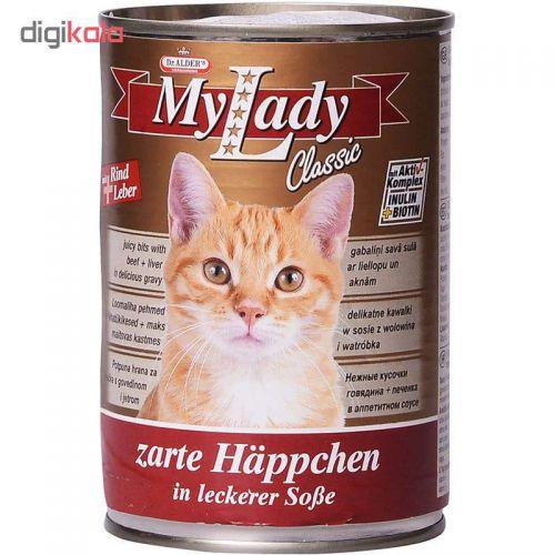 کنسرو غذای گربه دکتر آلدرز مدل My Lady Rind and Leber وزن 415 گرم
