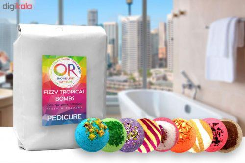 کوکتل نمک حمام اور مدل Mix Pedicure وزن ۹۰۰ گرم بسته ۹ عددی